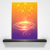 Magazine cover or flyer design/ Colorful spiral Royalty Free Stock Images