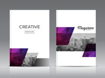 Magazine cover layout design template vector set. Annual report layout with photo place. illustration vector in A4 size Royalty Free Stock Images