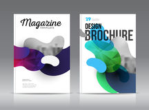 Magazine cover layout design template vector set. Annual report layout with photo place. illustration vector in A4 size Royalty Free Stock Photo