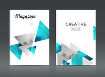 Magazine cover layout design template vector set. Annual report layout with photo place. illustration vector in A4 size Royalty Free Stock Photos