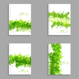 Magazine Cover with leaves, triangles. Royalty Free Stock Photos