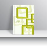 Magazine Cover with overlapping squares Royalty Free Stock Photos