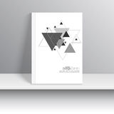 Magazine Cover with pattern, hipster triangle. Stock Photography