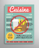 Magazine cover template. Food blogging layer, culinary cuisine  illustration. Stock Photos