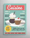 Magazine cover template. Food blogging layer Stock Photography
