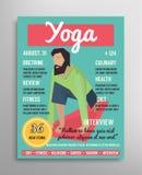 Magazine cover template. Yoga blogging layer, health sport  illustration. Stock Photography