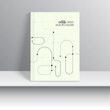 Magazine Cover. Vector. Magazine Cover with curved lines, dot and particle. For book,  leaflet, cd cover design, postcard, business card, annual report Stock Image
