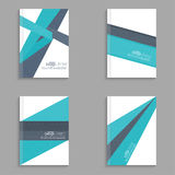 Magazine Cover vector. Set Magazine Cover with origami intersecting ribbons. For book,  leaflet, cd cover design, postcard, business card, annual report Stock Photos