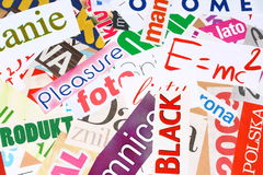 Magazine cuttings Royalty Free Stock Image