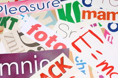 Magazine cuttings Royalty Free Stock Photography
