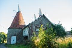 Magazine d'houblon de bâtiment de pays au R-U, Kent Photo stock