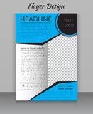 Magazine, flyer, brochure and cover layout design print template Stock Photos
