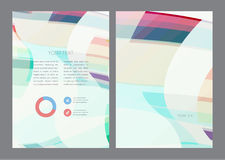 Magazine, flyer, brochure and cover layout design. Template, vector Illustration Stock Photo