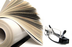 Magazine with glasses Stock Photo