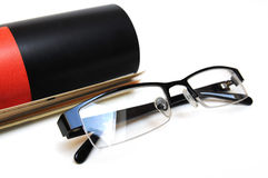 Magazine with glasses Stock Image