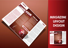 Magazine illustration design layout Royalty Free Stock Photography