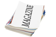 Magazine isolated on white Stock Images