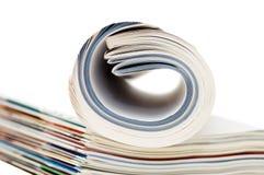 Magazine isolated on white background Stock Image