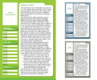 Magazine Layout Template (3 color pages). Website template, shop design, brochure page Royalty Free Stock Photo