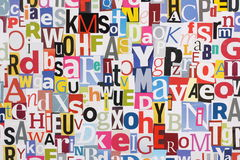 Magazine Letters Background Stock Photos