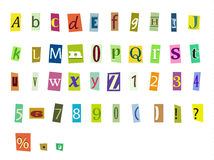 Magazine letters Stock Images
