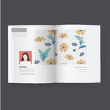 Magazine news article vector illustration Concept Royalty Free Stock Photography