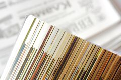 Magazine pages closeup Stock Photography