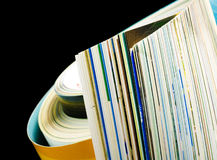 Magazine pages closeup Royalty Free Stock Photography