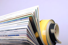Magazine pages closeup Stock Images