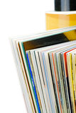 Magazine pages closeup royalty free stock photo