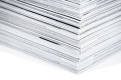 Magazine pages up close Royalty Free Stock Image
