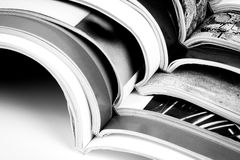 Magazine pages up close Royalty Free Stock Photos