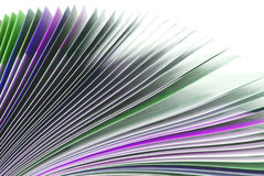 Magazine paper texture Stock Photo
