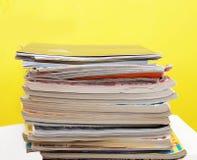 Magazine pile Stock Images