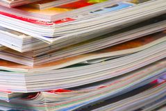 Magazine Pile Royalty Free Stock Photography