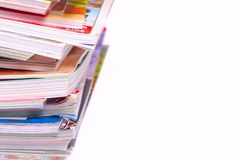 Magazine Pile Royalty Free Stock Images