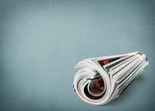 Magazine. Publication roll journal read daily gossip Royalty Free Stock Photography