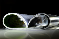 Magazine on reflective surface Royalty Free Stock Photos
