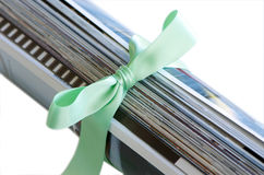 Magazine and ribbon Stock Photography