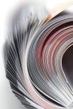 Magazine roll. Close-up on white background stock images