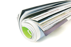 Magazine roll. Isolated on white stock photos
