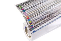 Magazine Roll isolated on white. Front view of magazine Roll isolated on white royalty free stock image