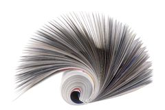 Magazine Roll isolated on white. Front view of magazine Roll isolated on white stock images