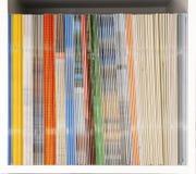 Magazine Shelf. Shelf with magazines and brochures Stock Photography