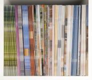 Magazine Shelf. Shelf with magazines and brochures Stock Photos