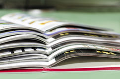 Magazine spread in the office royalty free stock images
