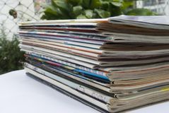 Magazine stack Royalty Free Stock Image