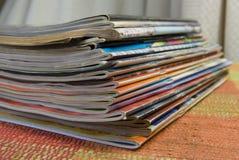 Magazine stack Royalty Free Stock Images