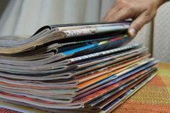Magazine stack Stock Images