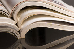 Magazine stack Royalty Free Stock Images